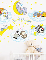 cheap -moon stars clouds small animals good night children's bedroom home decoration wall stickers self-adhesive