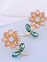 cheap -Women's Stud Earrings Earrings Classic Flower Korean Sweet Earrings Jewelry Golden For Gift Daily Holiday 1 Pair