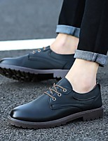 cheap -Men's Loafers & Slip-Ons Lace up British Style Plaid Shoes Comfort Shoes Business Casual Vintage Party & Evening Outdoor PU Non-slipping Wear Proof Khaki Black Brown Fall