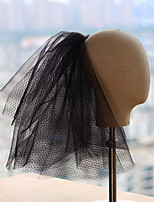 cheap -Four-tier Party / Vintage Style Wedding Veil Shoulder Veils / Elbow Veils with Solid Tulle