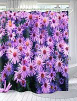 cheap -Purple Floral Print Series Digital Printing Shower Curtain Shower Curtains  Hooks Modern Polyester New Design