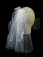 cheap -One-tier Ribbons / Sweet Wedding Veil Shoulder Veils with Solid Tulle