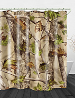 cheap -Nature Trees Printed Waterproof Fabric Shower Curtain Bathroom Home Decoration Covered Bathtub Curtain Lining Including Hooks.
