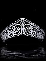 cheap -Classical Retro Hair Accessories Royal Crown Bride Married Zircon Crown Wedding Headdress Wedding Accessories