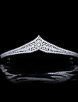 cheap -Simple New Princess Micro-inlaid Full Zircon Crown Bridal Wedding Headdress Wedding Dress Accessories Hair Accessories