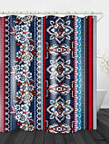 cheap -Ethnic flower Printed Waterproof Fabric Shower Curtain Bathroom Home Decoration Covered Bathtub Curtain Lining Including hooks.
