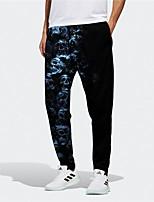 cheap -Men's Designer Big and Tall Halloween Sports Breathable Sports Jogger Pants Sweatpants Trousers Daily Fitness Pants Graphic Prints Skull Full Length Drawstring Elastic Waist Black / Elasticity