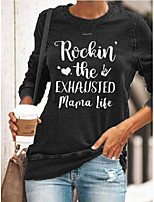 cheap -floral-print casual letter shirts & tops