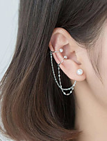 cheap -Women's Clip on Earring Classic Letter Artistic European Earrings Jewelry White For Daily Prom Festival 1pc