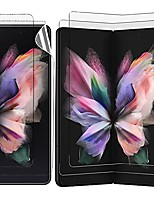 cheap -2 pcs front outer screen protector, 2 pcs inner screen protector soft tpu film compatible with samsung galaxy z fold 3 5g hydrogel support fingerprint (anti-glare)