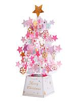 cheap -christmas crystal creative ornaments 3d stereo greeting card birthday greeting card handmade greeting card wholesale holiday gift card