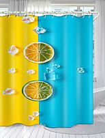 cheap -Leisure Simple Series Digital Printing Shower Curtain Shower Curtains  Hooks Modern Polyester New Design