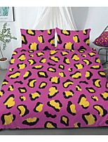 cheap -Print Home Bedding Duvet Cover Sets Soft Microfiber For Kids Teens Adults Bedroom Leopard Pattern 1 Duvet Cover + 1/2 Pillowcase Shams