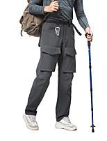cheap -Men's Fleece Lined Pants Hiking Pants Trousers Softshell Pants Solid Color Winter Outdoor Regular Fit Thermal Warm Waterproof Warm Ultraviolet Resistant Pants / Trousers Dark Grey Black Fishing