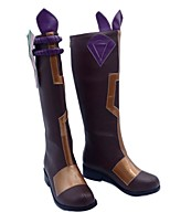 cheap -Women's Boots Chunky Heel Round Toe Knee High Boots Daily Work PU Color Block Purple