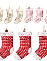 cheap -Christmas Tree Decoration Plastic Electroplating Christmas Stocking Decoration Christmas Gift Creative Ornaments