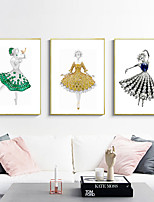 cheap -Wall Art Canvas Prints People Home Decoration Decor Rolled Canvas No Frame Unframed Unstretched
