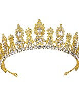 cheap -S255 Bride Wedding Crown Tiara Wedding Jewelry Zircon Crystal Crown Princess Birthday Crown