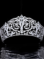 cheap -Queen Princess Bride Wedding Crown Wedding Headdress Spain Fleur De Lys Big iris Crown