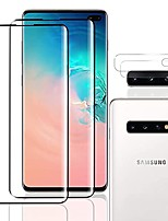 cheap -[2+2 pack] galaxy s10 plus tempered glass screen protector + camera lens protectors, anti shatter anti-scratch fingerprint unlock full coverage screen protector compatible with samsung s10 plus