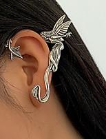 cheap -Men's Women's Ear Cuff Earrings Vintage Style Angel Wings Unique Design Gothic Vintage Punk European Earrings Jewelry Silver Dragon 1 / Silver Dragon 2 For Halloween Street Carnival Bar Festival