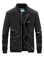 cheap -Men's Bomber Jacket Hiking Windbreaker Military Tactical Jacket Outdoor Thermal Warm Windproof Lightweight Breathable Outerwear Trench Coat Top Skiing Fishing Climbing Lake blue Green Light Gray Black