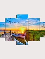 cheap -5 Panels Wall Art Canvas Prints Painting Artwork Picture Landscape Painting Home Decoration Decor Rolled Canvas No Frame Unframed Unstretched