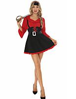 cheap -Pirate Sailor / Navy Cosplay Costume Adults' Women's Halloween Halloween Halloween Festival / Holiday Terylene Black Women's Easy Carnival Costumes Solid Color / Dress / Headwear / Waist Belt