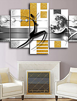 cheap -5 Panels Wall Art Canvas Prints music Home Decoration Decor Rolled Canvas No Frame Unframed Unstretched
