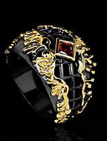 cheap -Women Band Ring Cut Out Gold / Black Brass Floral Theme Statement Artistic Vintage 1pc / Women's