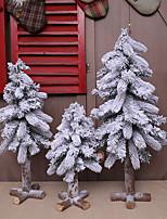 cheap -Christmas Creative Flocking 45-80cm Snowflake Mulberry Tree Decoration Shopping Mall Window Christmas Tree Scene Decoration
