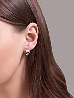 cheap -Men's Women's Earrings Vintage Style Skull Stylish Gothic Punk European Cool Earrings Jewelry Silver / Black For Halloween Street Carnival Bar Festival