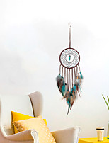 cheap -Boho Dream Catcher Handmade Gift Wall Hanging Decor Art Ornament Crafts Circle Feather For Kids Bedroom Wedding Festival 13*43cm