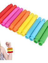 cheap -12 Pack Mini Pop Tube Sensory Fidget Toy Colorful Heavy-Duty for Construction Building Educational Toys for Stress Autism ADHD