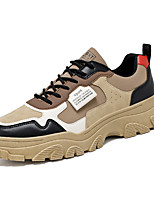 cheap -Men's Sneakers Business Casual Classic Daily Faux Leather Khaki Beige Fall Winter