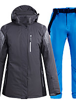 cheap -Men's Ski Jacket with Bib Pants Thermal Warm Waterproof Windproof Breathable Hooded Winter Clothing Suit for Snowboarding Ski Mountain / Cotton / Women's