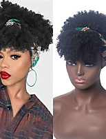cheap -Kinky Curly Wigs for Black Women Afro Curly Hair Wigs Natural Synthetic Conjoined Turban Curls Wig African American Fake Hair