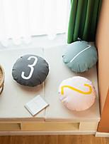 cheap -Solid Color Canvas Print Pillow Case Number Letter Element Waist Round Cushion