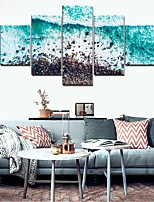 cheap -5 Panels Wall Art Canvas Prints Painting Artwork Picture Ocean Wave Landscape Home Decoration Decor Rolled Canvas No Frame Unframed Unstretched