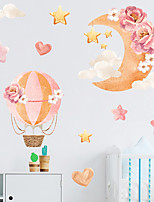cheap -painted moon stars clouds hot air balloon children's room commercial wall landscaping decorative wall stickers