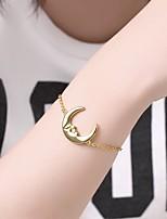 cheap -Women's Bracelet Pendant Bracelet 3D Moon Fashion Copper Bracelet Jewelry Golden For Christmas Party Wedding Gift Daily / Gold Plated