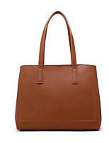 cheap -Women's Bags PU Leather Top Handle Bag Zipper Shopping Office & Career Handbags Dark Brown Black Dark Blue
