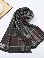 cheap -Men's Rectangle Scarf Casual Black Scarf Print