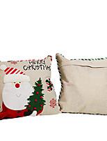 cheap -hong kong love elderly snowman hugging pillowcase christmas pillow linen sofa pillow case car cushion cover decoration wholesale