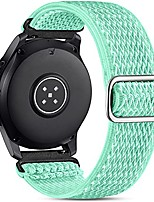 cheap -22mm watch bands compatible for samsung galaxy watch 3 45mm band/galaxy watch 46mm/gear s3 frontier, stretchy adjustable elastic nylon woven loop wristband for men women, mint green