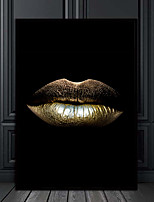 cheap -Wall Art Canvas Prints Painting Artwork Picture  gold lips Home Decoration Decor Rolled Canvas No Frame Unframed Unstretched