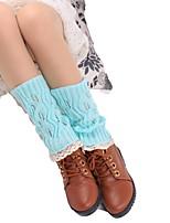 cheap -Fashion Comfort Women's Socks Lace Solid Colored Socks Casual Socks Warm Casual Blue 1 Pair / Dress & Trouser Socks / Leg Warmers
