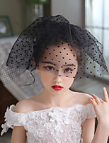 cheap -Two-tier Party / Evening / Vintage Style Wedding Veil Blusher Veils / Shoulder Veils / Communion Veils with Solid Tulle