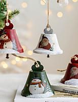 cheap -Christmas Iron Bell Santa Snowman Bell Pendant Decoration Christmas Tree Ring Bell