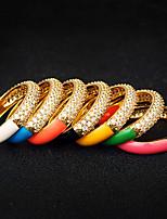 cheap -Women Ring AAA Cubic Zirconia Yellow Blue Pink Brass Joy Simple Fashion European 1pc / Women's
